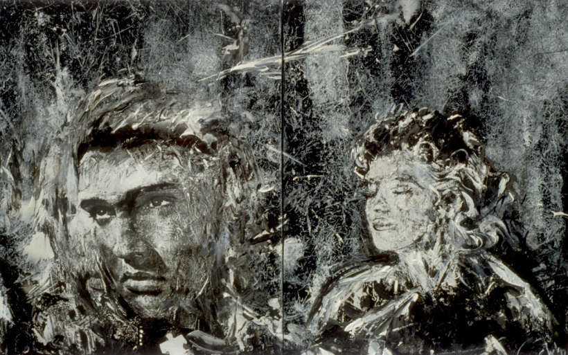 Elvis et Marilyn, Technique mixte, 1992