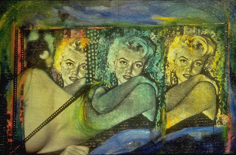"""Au-delà de l'image, Techniques mixtes, 24"""" x 16"""" (60 x 40 cm), 1992"""